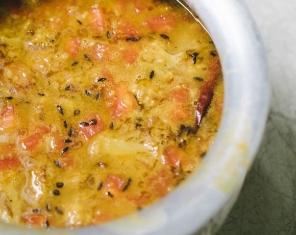Vegetable Dal with Cauliflower (Lentil Soup)